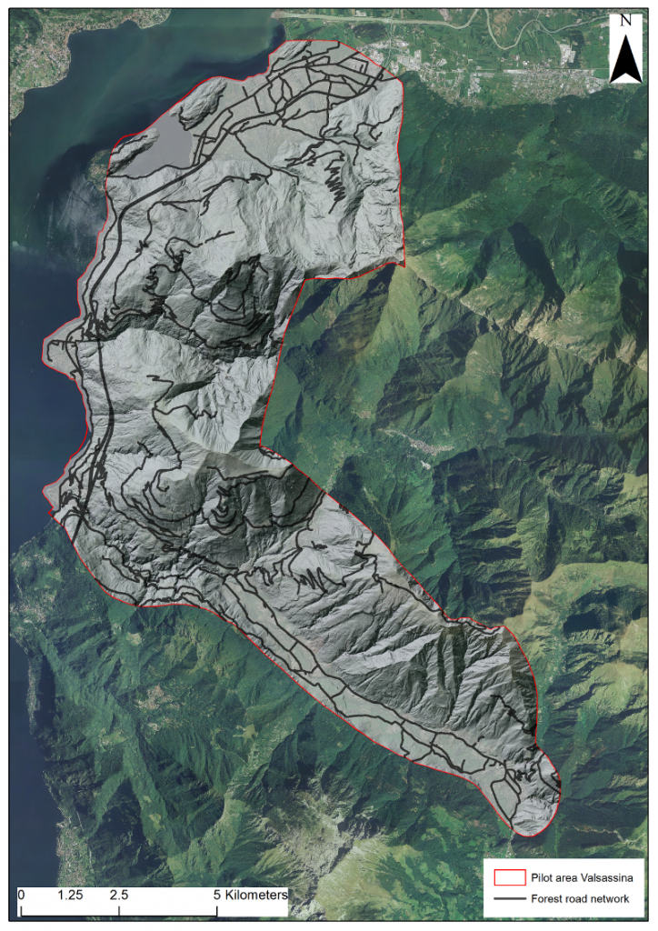 Lidar data in Valsassina